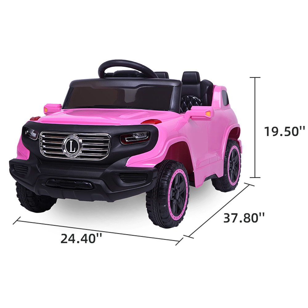 Toy Cars That You Can Drive >> Details About Kids Ride On Cars Truck 3 Speed Adjustable Electric Car Toys Remote Control Pink
